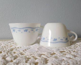 Vintage Pyrex Milk Glass Mugs