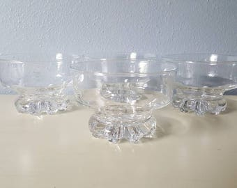 Vintage Anchor Hocking Footed dessert cups