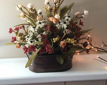 Silk floral arrangement