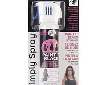 Paint It Black Spray Fabric Paint 2.5 oz