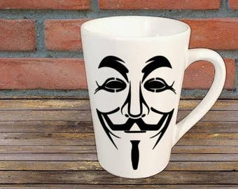 V for Vendetta Horror Mug Coffee Cup Gift Home Decor Kitchen Halloween Bar Gift for Her Him