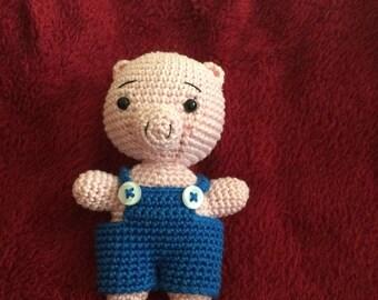 Pig crochet blanket