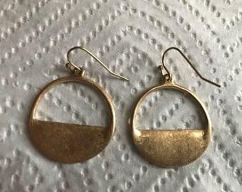 Semi-Circle HoopDrop Earring