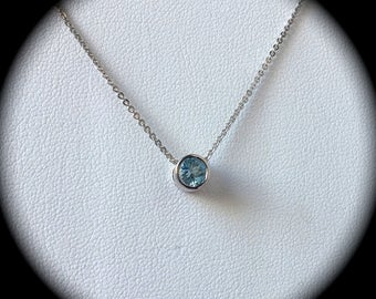 Emerald Premium Quality Sterling Silver Necklace 'Certified'