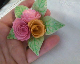 Hand Crafted Paper Brooch - Nance