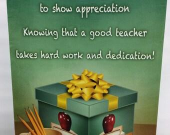 Teacher gift, gift card holder. SET OF 4. Teacher gift card holder. Teachers Appreciation gift card holder. Holiday gift card holder.