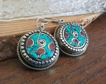 Boho Tribal Tibetan Earrings