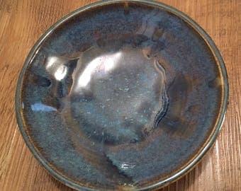 Beautiful Blue Glazed Pottery Bowl