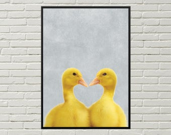 DUCKLING print, easter art, easter duckling, easter picture, duckling art, cute duckling, duck decor, duckling wall decor, duckling poster