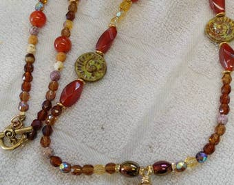 21 in amber necklace
