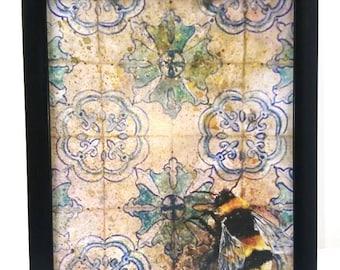 A4 Artwork Print. Bumblebee Framed