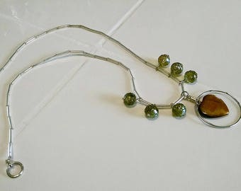 Green and Tigereye Necklace
