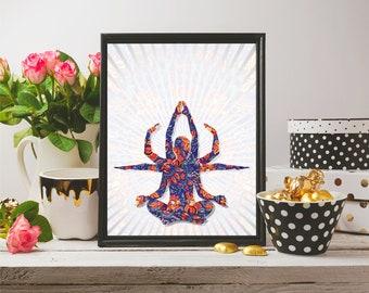 Buddha Painting, Buddha Poster, Digital Print, Buddha Wall Print, Buddha Home Decor, Wall Art, Bedroom Decor, House Decor, Buddha Art