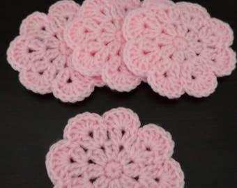 Crochet Flower Coasters- Set of 4