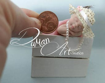 OOAK baby Artdolls, miniatures, Doll, One of a Kind, sculpture, CHANEL