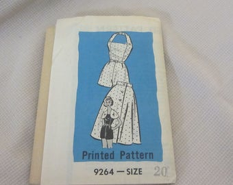 Vintage 1940s Play-suit Mail Order Printed Pattern No. 9264, Size 20.