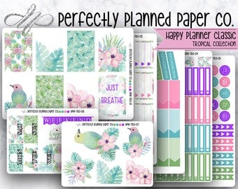 Tropical Collection // Full Weekly Kit // Happy Planner Classic