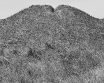 Coastal Geometry 2 - black and white, archival, museum quality, carbon inket, photograph