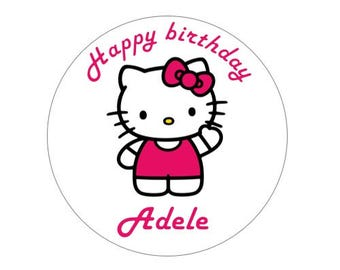 Personalised Hello Kitty Cake wafer topper