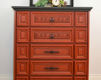 Country Red Dresser