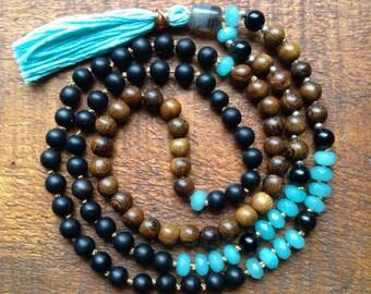 Mala Meditation beads Balance self expression  mala free shipping 108 mala beads hand knotted yoga jewelry