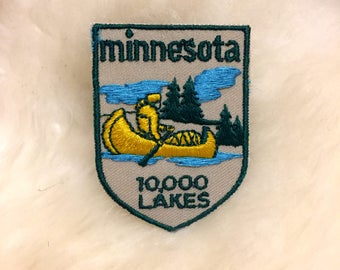 Vintage Minnesota Travel Souvenir Patch