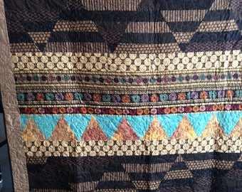 "quilt 61"" x & 70""  Wall Hanging or lap quilt  Title:   Egyptian Sands"