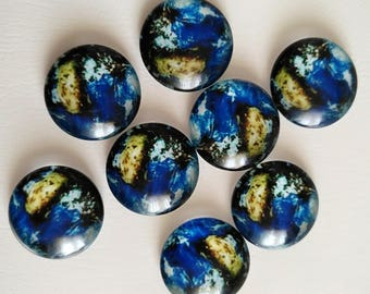 8pcs 16mm Handmade Photo Glass Cabochons