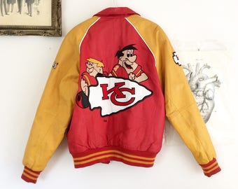 Sale! From 150 to 120 euros!  Rare collectible vintage varsity Jacket, embroidered leather Montana/HannaBarbera, cuts