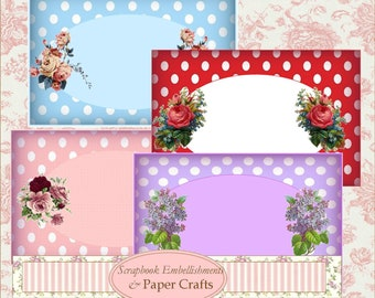 Papercraft Polka Dot Frames Instant Download