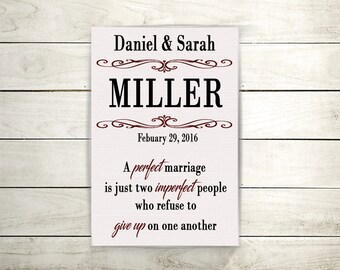 Family Name Sign/Customized Name Sign/Wedding Gift/Anniversary Gift/9x12 Canvas/Home Décor/House Warming Gift