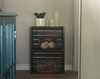 Rustic Crate Side Table