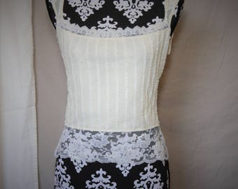 Classic white lace corset blouse