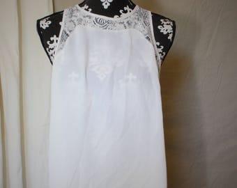 White open back blouse