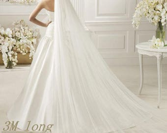 Single Layer Cathedral Length Veil