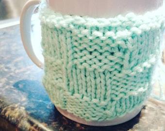 Custom Knit Coffee Cup Cozy