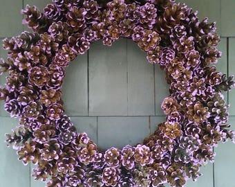 Pinecone Wreath Purple / Home Decor