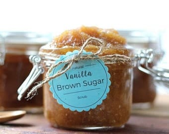 All Natural Vanilla Brown Sugar Scrub