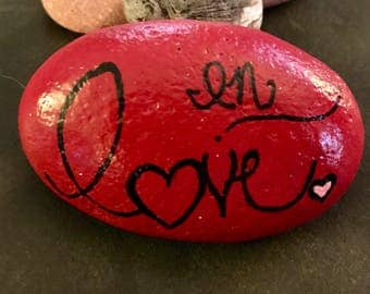 Inspirational  In Love Painted Rock & Paperweight