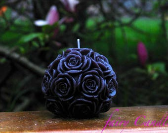 Black Candle - Black Rose Candle - Black Candles - Luxury Candle - Black Candle for Seduction and Beauty