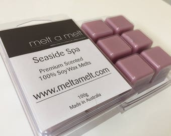 Seaside Spa Scented  Long lasting Soy Melts x 6 pack