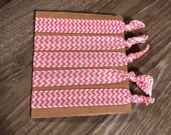 Pink ZigZag Hair Ties