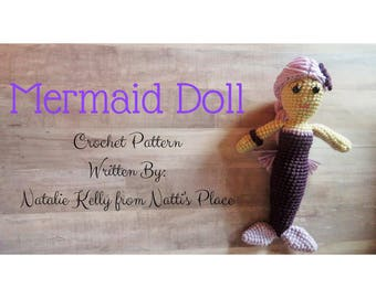 Mermaid Crochet Pattern Digital Download PDF