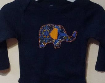 24 Month Onesie with Appliqued Elephant
