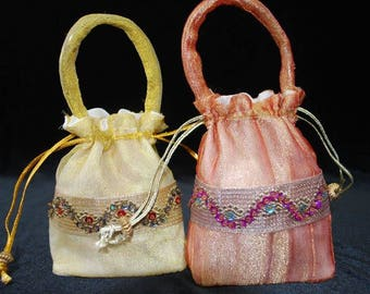 Pouches and handbag