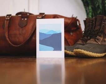 Blue Mountain Lake Note Card