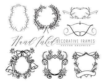 Hand Inked Decorative Frames