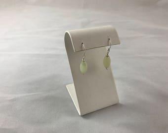 Green Jade sliver earring