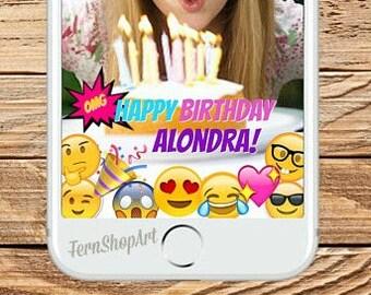 EMOJI Snapchat GeoFilter, Custom Snapchat Filter, Emoji Party Geofilter, Emoji Snapchat Filter, Emoji Birthday, Emoji Geofilter, Snapchat