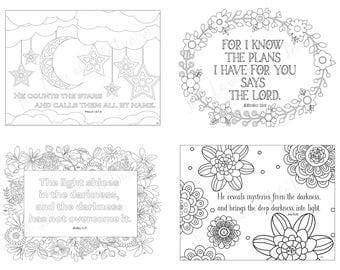scripture postcards god religious cards thank you cards christian cards coloring